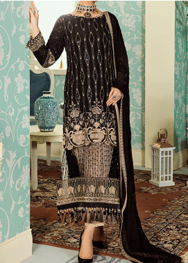 Safeera by Flossie Embroidered Chiffon Unstitched 3 Piece Suit FL20SF-04 - Luxury Collection