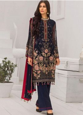 Safeera by Flossie Embroidered Chiffon Unstitched 3 Piece Suit FL20-SF6 03 Frasco - Luxury Collection