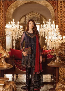 Safeera by Flossie Embroidered Chiffon Unstitched 3 Piece Suit SFR19ECC 01 - Luxury Collection
