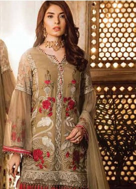 Safeera by Flossie Embroidered Chiffon Unstitched 3 Piece Suit SFR19ECC 06 - Luxury Collection