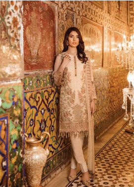 Safeera by Flossie Embroidered Chiffon Unstitched 3 Piece Suit SFR19ECC 07 - Luxury Collection