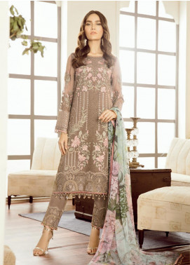Safeera by Flossie Embroidered Chiffon Unstitched 3 Piece Suit SFR19-C5 01 Margot - Luxury Collection