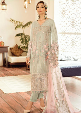 Safeera by Flossie Embroidered Chiffon Unstitched 3 Piece Suit SFR19-C5 02 Estee - Luxury Collection