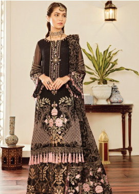Safeera by Flossie Embroidered Chiffon Unstitched 3 Piece Suit SFR19-C5 03 Concettina - Luxury Collection