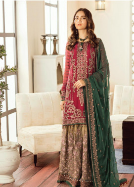 Safeera by Flossie Embroidered Chiffon Unstitched 3 Piece Suit SFR19-C5 05 Grandiose - Luxury Collection