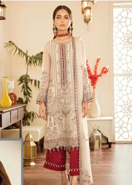Safeera by Flossie Embroidered Chiffon Unstitched 3 Piece Suit SFR19-C5 06 Tourmaline - Luxury Collection