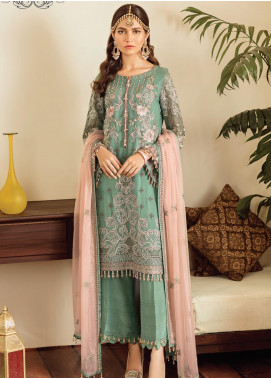 Safeera by Flossie Embroidered Chiffon Unstitched 3 Piece Suit SFR19-C5 08 Alexandrite - Luxury Collection