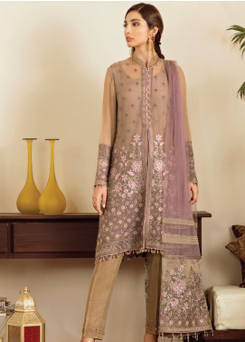 Safeera by Flossie Embroidered Chiffon Unstitched 3 Piece Suit SFR19-C5 09 Ornate - Luxury Collection