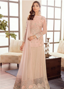 Safeera by Flossie Embroidered Chiffon Unstitched 3 Piece Suit SFR19-C5 10 Chic - Luxury Collection