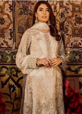 Safeera by Flossie Embroidered Chiffon Unstitched 3 Piece Suit SFR19ECC 03 - Luxury Collection
