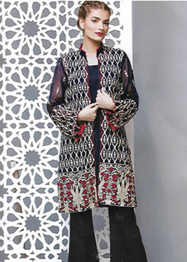 Sahil By ZS Textiles Embroidered Organza Unstitched Kurties SE18KC 01 - Mid Summer Collection