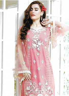 Sahil By ZS Textiles Embroidered Organza Unstitched Kurties SE18KC 04 - Mid Summer Collection