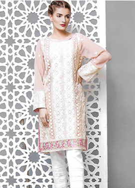 Sahil By ZS Textiles Embroidered Organza Unstitched Kurties SE18KC 06 - Mid Summer Collection