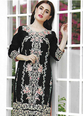 Sahil By ZS Textiles Embroidered Organza Unstitched Kurties SE18KC 07 - Mid Summer Collection
