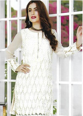 Sahil By ZS Textiles Embroidered Organza Unstitched Kurties SE18KC 08 - Mid Summer Collection