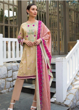 Sahil By ZS Textiles Embroidered Lawn Unstitched 3 Piece Suit SL19MS 1A - Mid Summer Collection