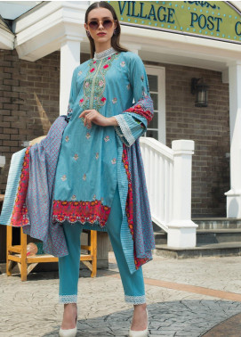 Sahil By ZS Textiles Embroidered Lawn Unstitched 3 Piece Suit SL19MS 1B - Mid Summer Collection