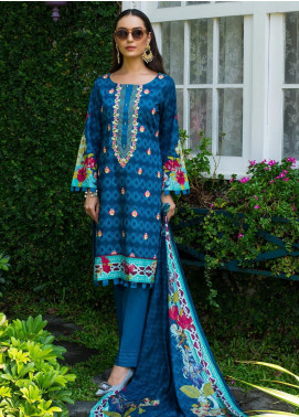 Sahil By ZS Textiles Embroidered Lawn Unstitched 3 Piece Suit SL19MS 4A - Mid Summer Collection