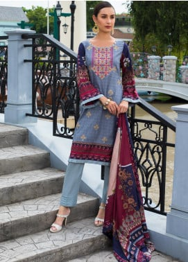 Sahil By ZS Textiles Embroidered Cambric Unstitched 3 Piece Suit SL20-MS2 01A - Mid Summer Collection