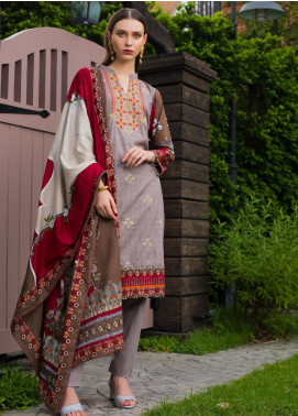 Sahil By ZS Textiles Embroidered Cambric Unstitched 3 Piece Suit SL20-MS2 01B - Mid Summer Collection