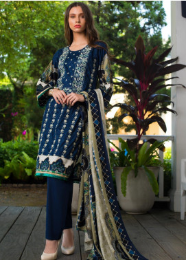 Sahil By ZS Textiles Embroidered Cambric Unstitched 3 Piece Suit SL20-MS2 02A - Mid Summer Collection