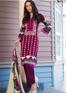 Sahil By ZS Textiles Embroidered Cambric Unstitched 3 Piece Suit SL20-MS2 02B - Mid Summer Collection