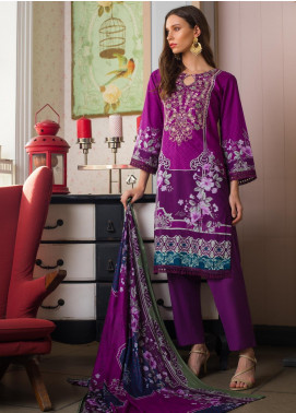 Sahil By ZS Textiles Embroidered Cambric Unstitched 3 Piece Suit SL20-MS2 03A - Mid Summer Collection