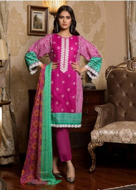 Sahil By ZS Textiles Embroidered Lawn Unstitched 3 Piece Suit SL19L 1A - Spring / Summer Collection