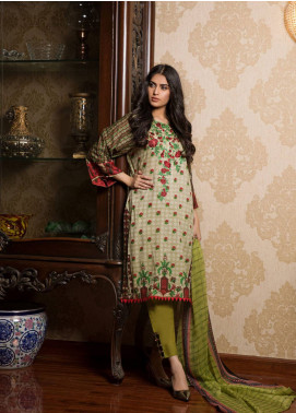 Sahil By ZS Textiles Embroidered Lawn Unstitched 3 Piece Suit SL19L 2A - Spring / Summer Collection
