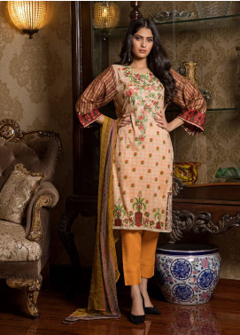 Sahil By ZS Textiles Embroidered Lawn Unstitched 3 Piece Suit SL19L 2B - Spring / Summer Collection
