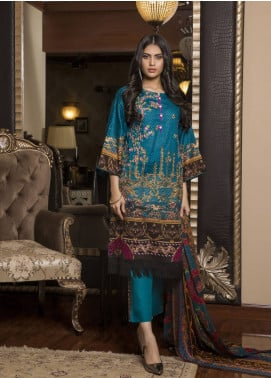Sahil By ZS Textiles Embroidered Lawn Unstitched 3 Piece Suit SL19L 3B - Spring / Summer Collection