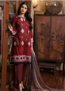 Sahil By ZS Textiles Embroidered Lawn Unstitched 3 Piece Suit SL19L 4A - Spring / Summer Collection