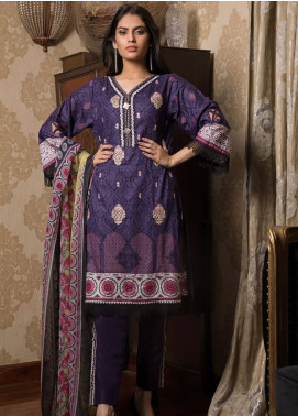 Sahil By ZS Textiles Embroidered Lawn Unstitched 3 Piece Suit SL19L 4B - Spring / Summer Collection