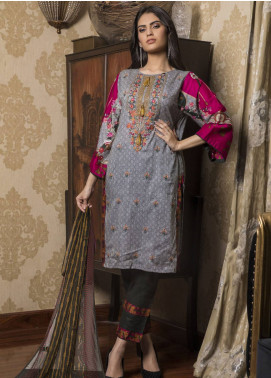 Sahil By ZS Textiles Embroidered Lawn Unstitched 3 Piece Suit SL19L 5B - Spring / Summer Collection