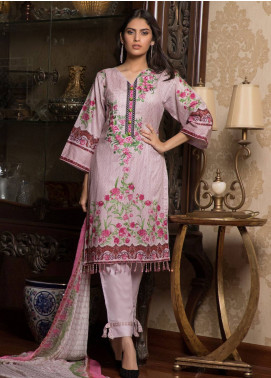 Sahil By ZS Textiles Embroidered Lawn Unstitched 3 Piece Suit SL19L 6A - Spring / Summer Collection