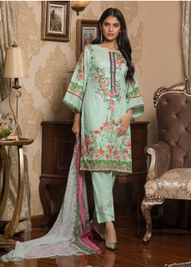 Sahil By ZS Textiles Embroidered Lawn Unstitched 3 Piece Suit SL19L 6B - Spring / Summer Collection