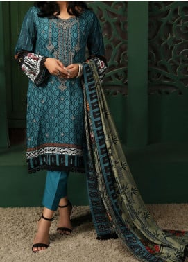 Sahil by ZS Textile Embroidered Lawn Unstitched 3 Piece Suit ZS20MS 2B - Summer Collection