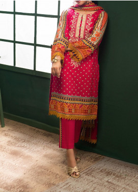 Sahil by ZS Textile Embroidered Lawn Unstitched 3 Piece Suit ZS20MS 5A - Summer Collection