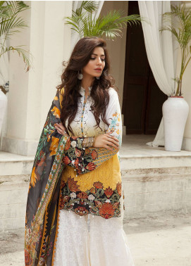 Saira Rizwan Embroidered Schiffli Unstitched 3 Piece Suit SR19E 04 RABAB - Eid Collection