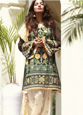 Saira Rizwan Embroidered Lawn Unstitched 3 Piece Suit SR19E 07 TABANI - Eid Collection