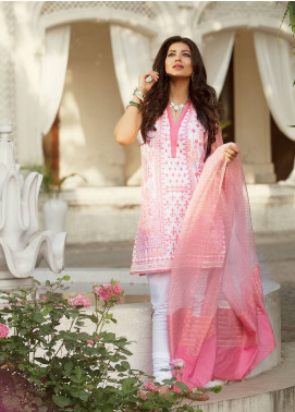 Saira Rizwan Embroidered Lawn Unstitched 3 Piece Suit SR19E 08 MEHR-UN-NISA - Eid Collection