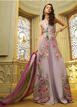 Saira Rizwan Embroidered Zari Net Unstitched 3 Piece Suit SR19WF 3 DEFNE - Wedding Collection