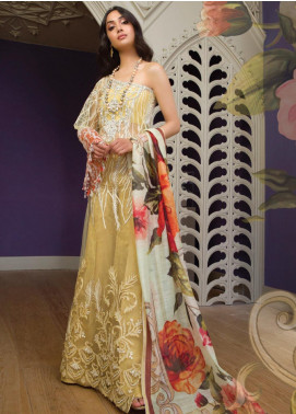 Saira Rizwan Embroidered Zari Net Unstitched 3 Piece Suit SR19WF 4 ELYSIAN - Wedding Collection