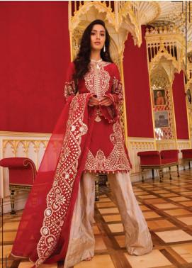 Saira Rizwan Embroidered Khaadi Net Unstitched 3 Piece Suit SR19WF 5 AMOR - Wedding Collection