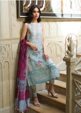 Saira Rizwan Embroidered Organza Unstitched 3 Piece Suit SR19WF 7 VILINA - Wedding Collection