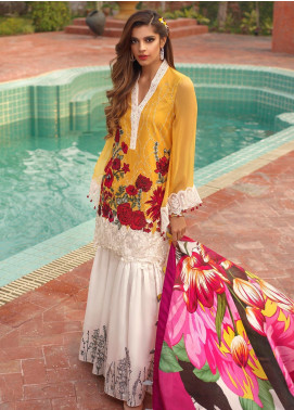 Saira Rizwan Embroidered Lawn Unstitched 3 Piece Suit SR20L 06 - Summer Collection