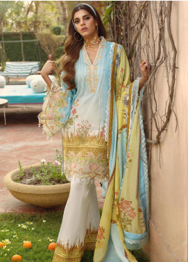 Saira Rizwan Embroidered Lawn Unstitched 3 Piece Suit SR20L 11 - Summer Collection
