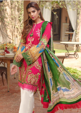 Saira Rizwan Embroidered Lawn Unstitched 3 Piece Suit SR20L 12 - Summer Collection