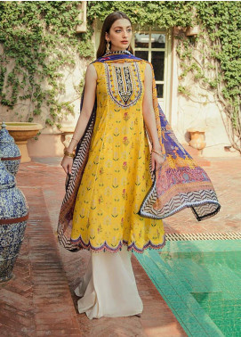 Saira Rizwan Embroidered Lawn Unstitched 3 Piece Suit SR20L-2 03 SELENE - Spring / Summer Collection
