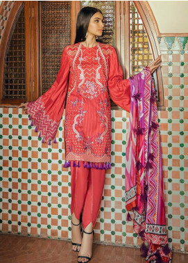 Saira Rizwan Embroidered Lawn Unstitched 3 Piece Suit SR20L-2 06 NARANJ - Spring / Summer Collection